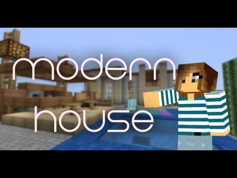 minecraft 1.5.2 modern house / casa moderna + DESCARGA