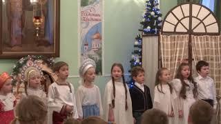2017 Рождество Христово детский праздник песня Зимняя сказка исполняет средняя группа школы