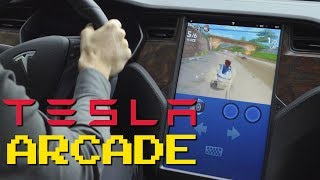 Tesla Arcade: Playing Video Games with a new Model S Long Range