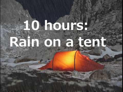 Rain on a tent 10 hours to sleep to youtube