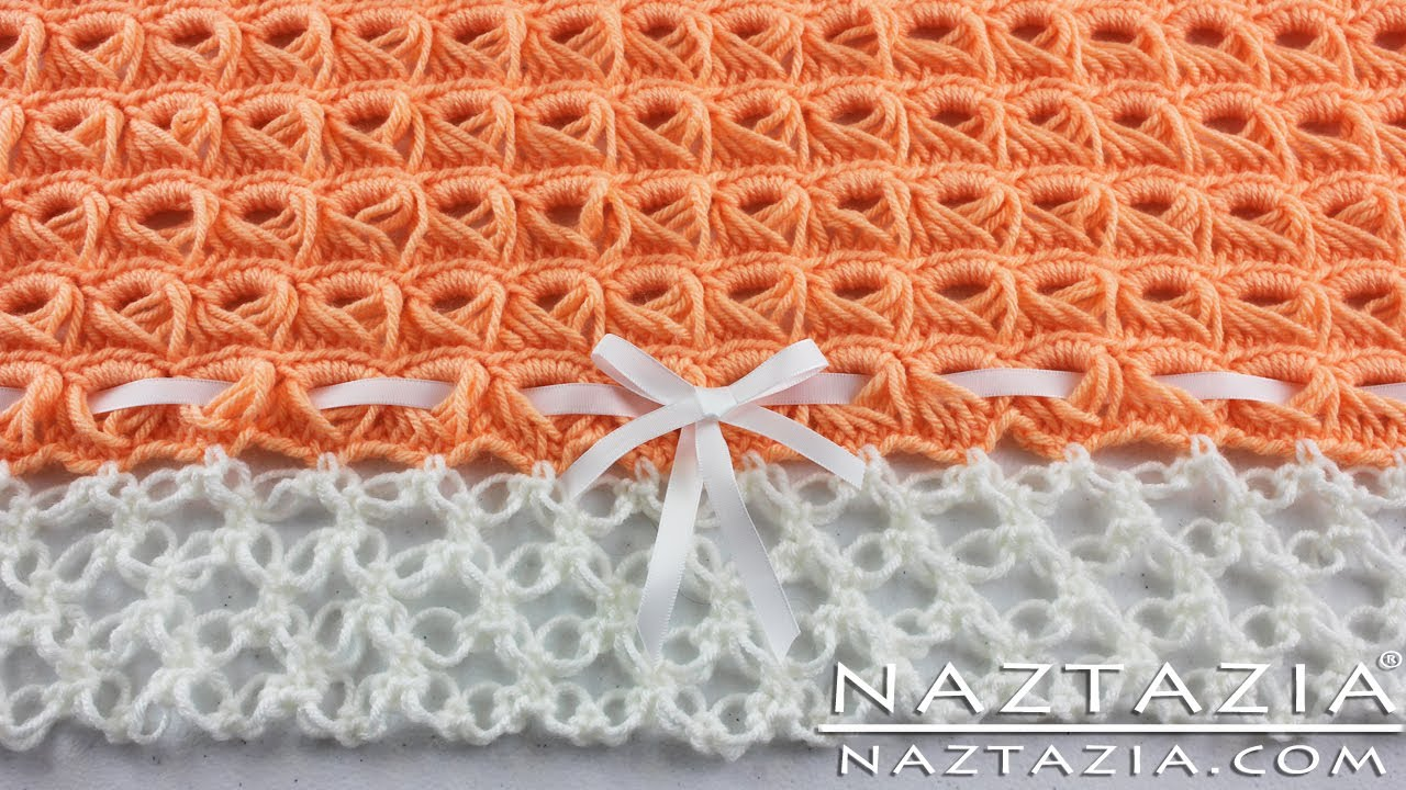 Lovers Knot Knitting Stitch : DIY Learn How To Crochet - Broomstick Lace Blanket Afghan Throw with Solomon&...
