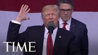 President Trump Brags About Election Victory & Bashed Media During Boy Scout Jamboree Speech | TIME