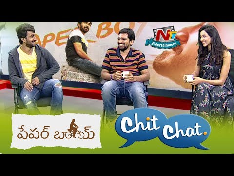 Chit Chat With Paper Boy Movie Team | Santosh Shoban | Riya Suman | NTV Entertainment