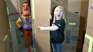SOMEONE BROKE IN! | Hello Neighbor in a Box Fort