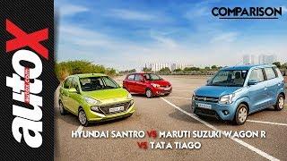 AMT comparison | Maruti Suzuki Wagon R | Hyundai Santro | Tata Tiago | autoX