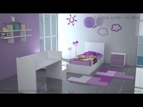 Cuna cama transformable - Alondra (Refs. K501 - K506)