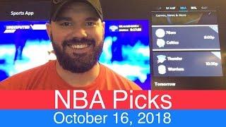 NBA Picks (10-16-18)   Basketball Sports Betting Expert Predictions   Vegas Odds   October 16, 2018