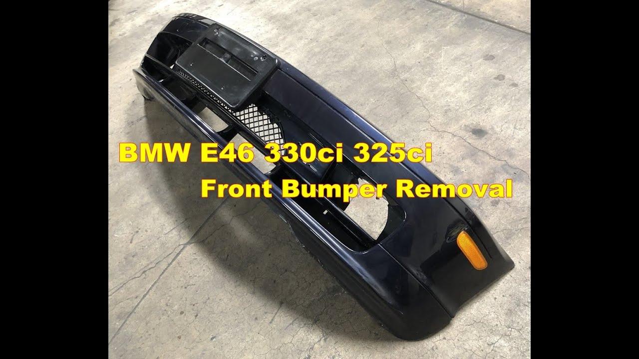 BMW E46 330ci 325ci Front Bumper Cover Removal Part 1