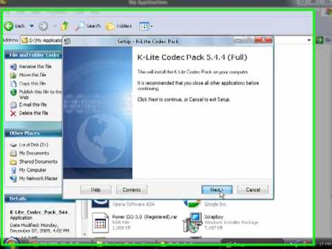 K Lite Codec Pack Installation