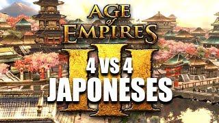AGE of EMPIRES 3 - JAPONESES en 4 VS 4