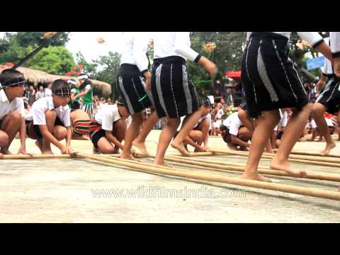 Cheraw Dance: The Traditional Mass Bamboo Dance Of Mizoram video