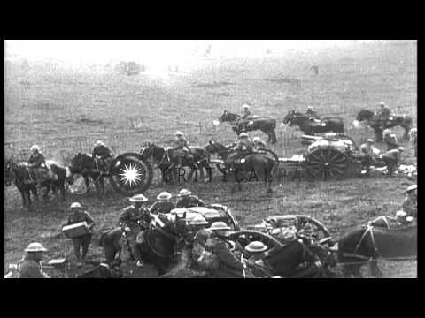 Link to order this clip: http://www.criticalpast.com/video/65675048392_United-States-27th-Division_Somme-Offensive_soldiers-marching_firing-artillery Histori...