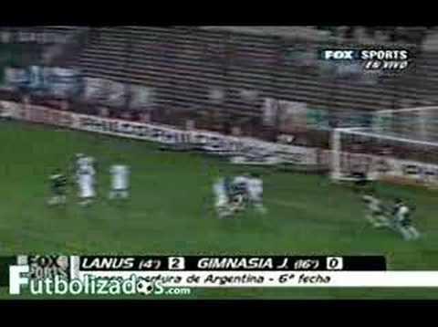 Lanus 2 - Gimnasia Jujuy 0. Apertura Argentino 2007