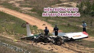 Cận cảnh hiện trường vụ rơi máy bay Yak 52 khiến 2 phi công hy sinh ở Khánh Hòa