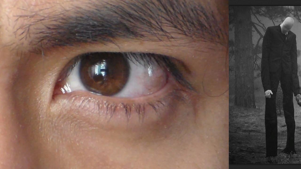 Real Slenderman Seen In Human Eye (UNEDITED VIDEO ...