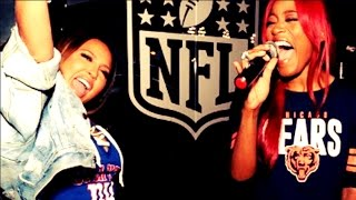 Keke Palmer and Adrienne Bailon NFL Sing-Off (FULL VIDEO)