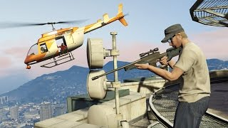 GTA 5 online: sniping players who are minding their own business