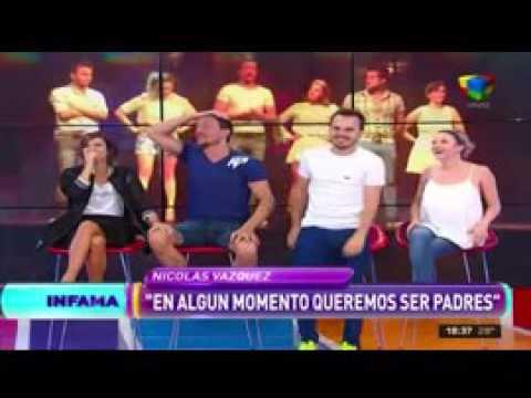 Nico Vázquez y Gimena Accardi tuvieron sexo en un camarín