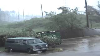 Found footage as the eyewall of Hurricane Katrina strikes Gulfport