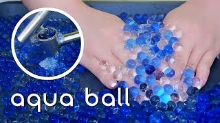 Satisfying ASMR  Aqua ball  Crushing and Touching | 아쿠아볼(개구리알) 만지고 으깨기 (no talking)