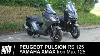 Match PEUGEOT PULSION RS 125 vs YAMAHA XMAX Iron Max 125 Auto-Moto.com