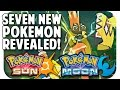 POKEMON SUN & MOON SEVEN NEW POKEMON!! Trailer Breakdown w/ T...