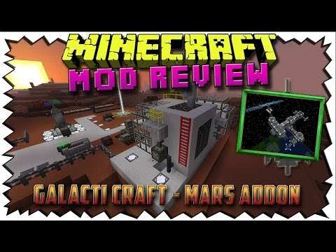 Minecraft GALACTICRAFT MARS MOD - Discover even more space!