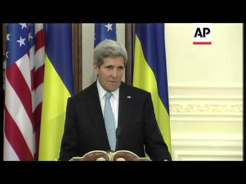 Kerry and Poroshenko on conflict