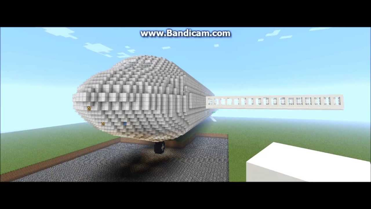 Minecraft Largest Airplane In The World In 1080p Hd