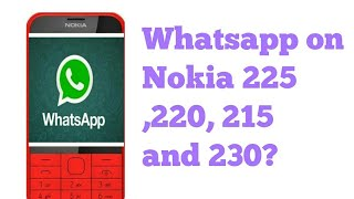 WhatsApp support on Nokia 225, 220 and 230😱😱😱😱😱 Vedant sharma