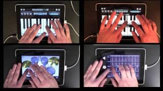 La canción de Zelda tocada con 4 iPads