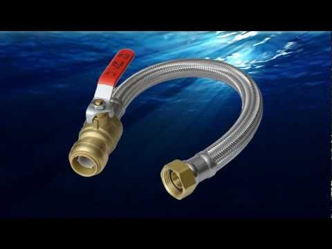 Sharkbite videos for Connecting pex to water heater