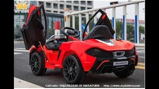 Mykidsvn.com - Giới thiệu siêu xe điện trẻ em Mclaren 672R