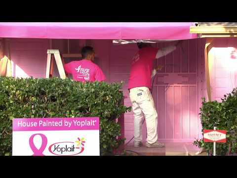 Affiliate of Susan G. Komen for the Cure Volunteer Joins Yoplait to Paint Her House Pink