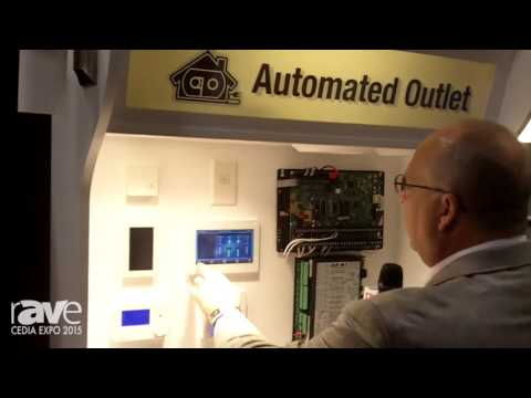 CEDIA 2015: Automated Outlet Demos the Leviton Home Automation Security Sytem