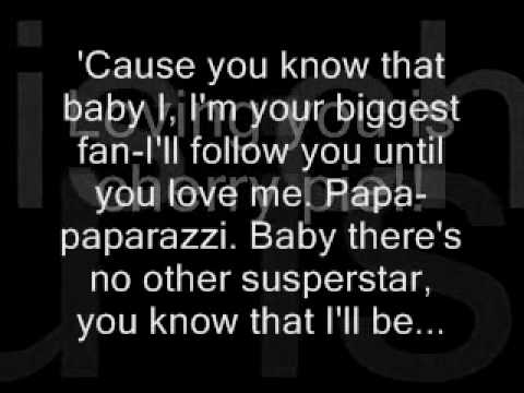 Papparazzi Lyrics Lady Gaga