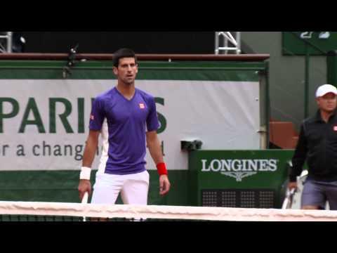 Roland Garros 2014 Djokovic Practice