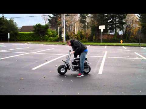 Riding my Custom Baja Doodle Bug Mini Bike 212 CC Predator Motor