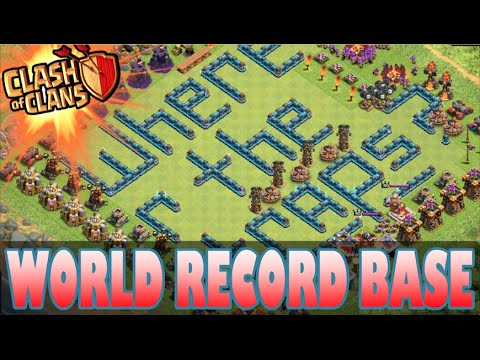"Clash of Clans - ""WORLD RECORD BASE!"" #1 BEST Base in HISTORY! Anti- Lavaloonion/Gowipe Base"