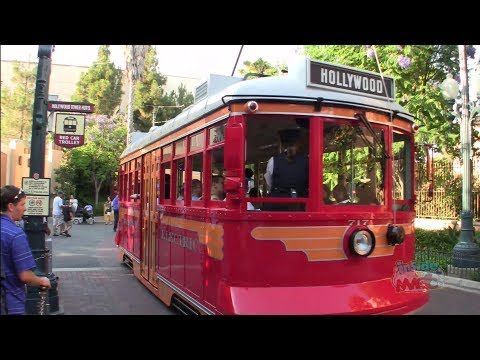 Ride on Red Car Trolley from Tower of Terror to Buena Vista Street at Disney California Adventure