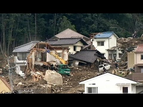 Japan PM Abe visits landslide-hit Hiroshima