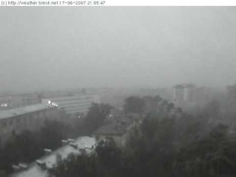 Storm in Tomsk, heavy demadge.