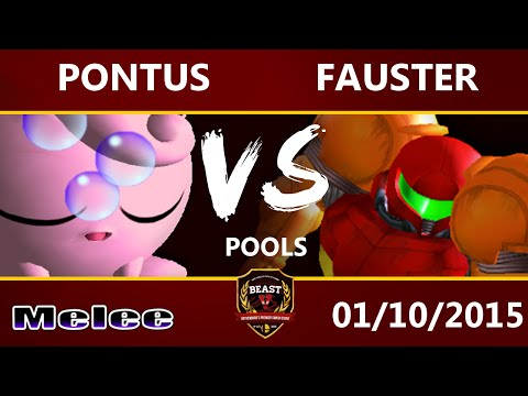 B.E.A.S.T 5 - Pontus (Jigglypuff) Vs. Fauster (Samus) - Melee Pools