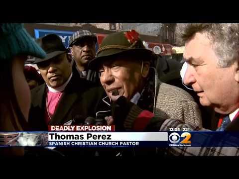 East Harlem Community Leaders Hold Prayer Vigil Near Blast Site