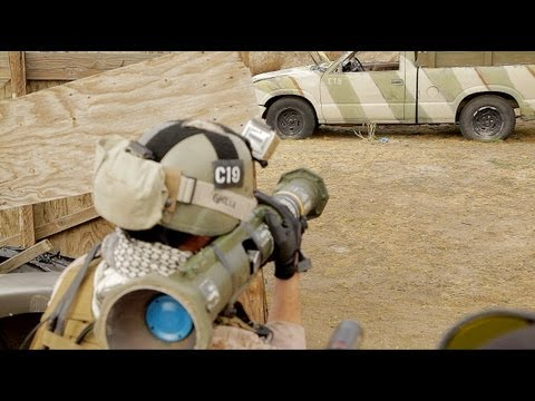 Airsoft Battle - Desert Fox Field 01/26/13 KWA Umarex MP7 WE PDW H&K 416 AT4 Suicide bomber