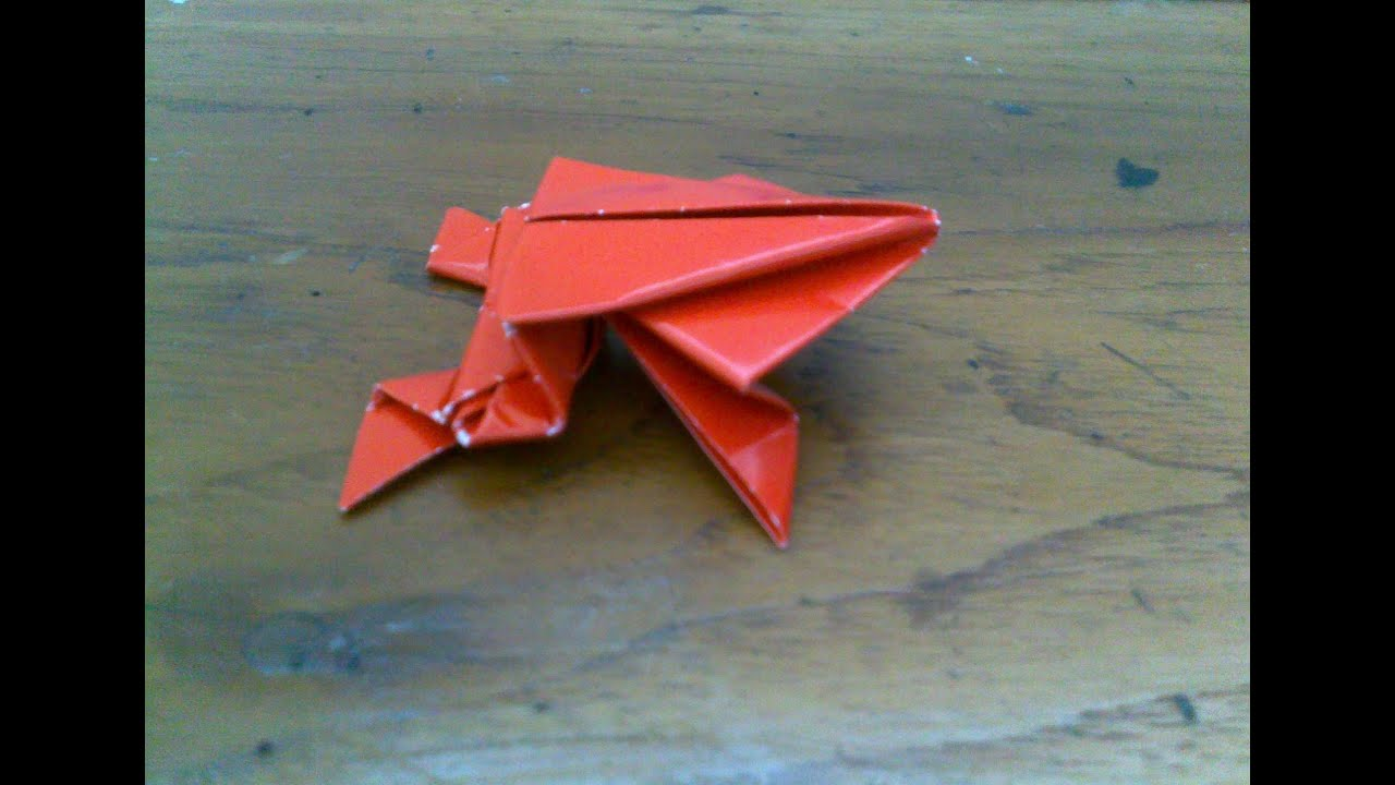 cara membuat origami origami binatang katak youtube