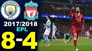 Liverpool vs Manchester City 8-4. (2017/2018) All Goals & Extended Highlights.
