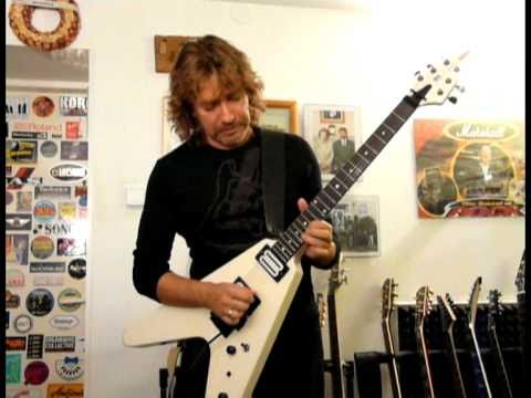 Flying V (DiMarzio Activator/Floyd Rose) Instrumental With Real Drums&Bass