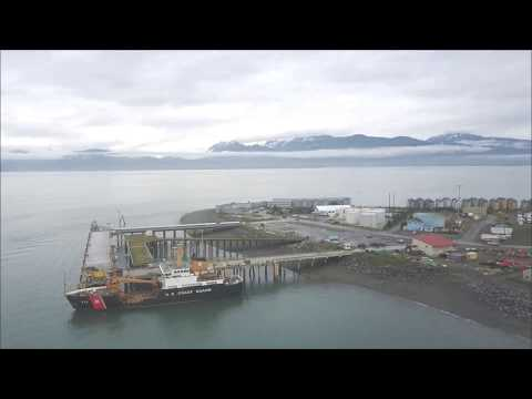 Аляска, Хомер. Homer Alaska Port & Harbor view from  DJI Mavic pro