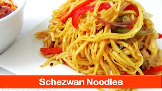 Schezwan noodles recipe spicy noodles recipe Indoc
